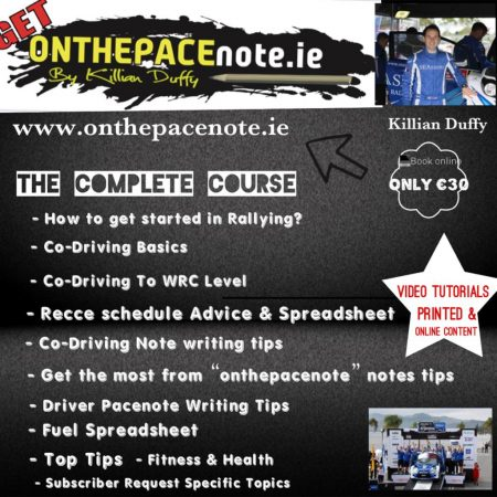 Get Started in Rallying Course - onthepacenote,ie